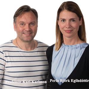 Professor Karl Karlsson, CSO & Co-founder and Perla Björk Egilsdóttir, CEO , 3Z Pharmaceuticals