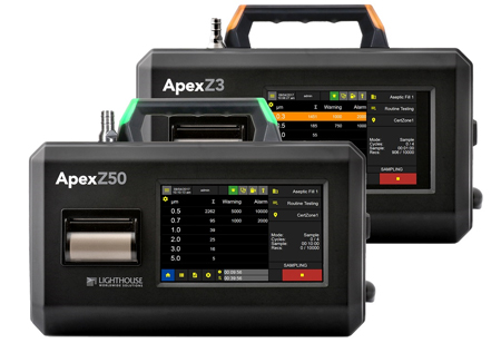 Lighthouse Worldwide Solutions Introduces the ApexZ3 and Z50 Portable Airborne Particle Counters